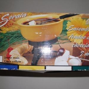 Ensemble à fondue au chocolat – jaune