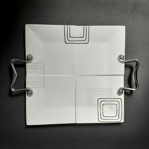 Plateau de service carré porcelaine