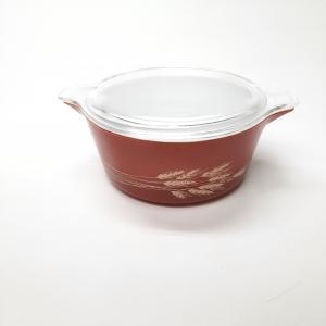 Plat Corningware orangé